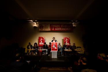 Meeting du NPA RP Contre Macron et l'Europe forteresse